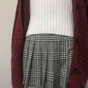 Dresses & Skirts - Black and White Pleated Miniskirt